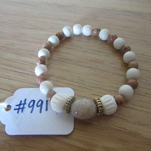 Hand beaded boho bracelet